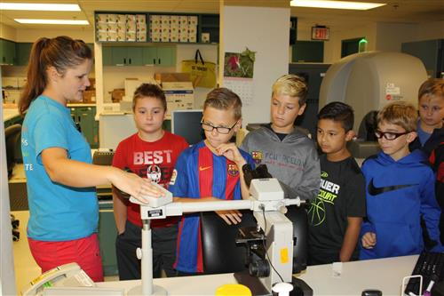 5th Grade Science Classes Explore Scientific Tools At Omc