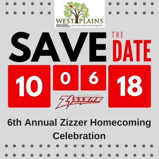 2018 Zizzer Homecoming Celebration - Save the Date