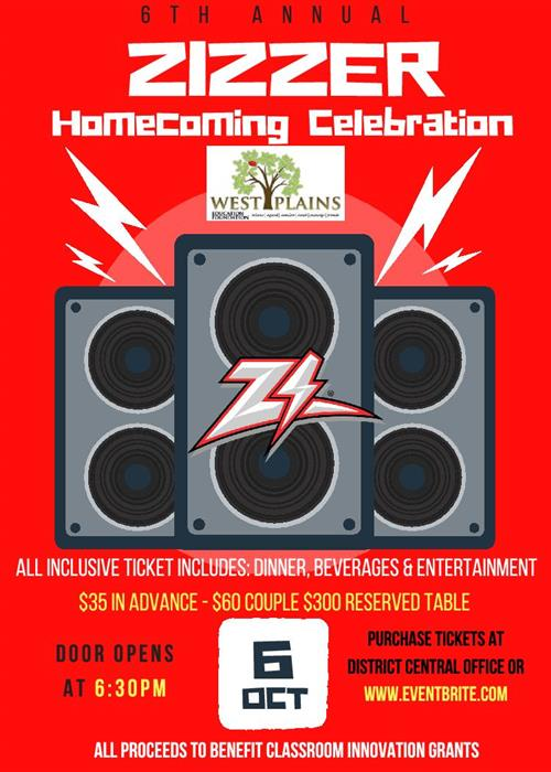 6th Annual Zizzer Homecoming Celebration Slated for October 6th, Tickets Now on Sale