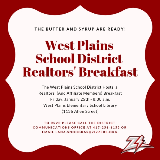 West Plains School District Hosts Realtors' (And Affiliate Members) Breakfast