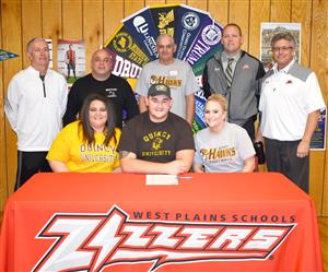 West Plains High School Football Standout Signs Letter of Intent