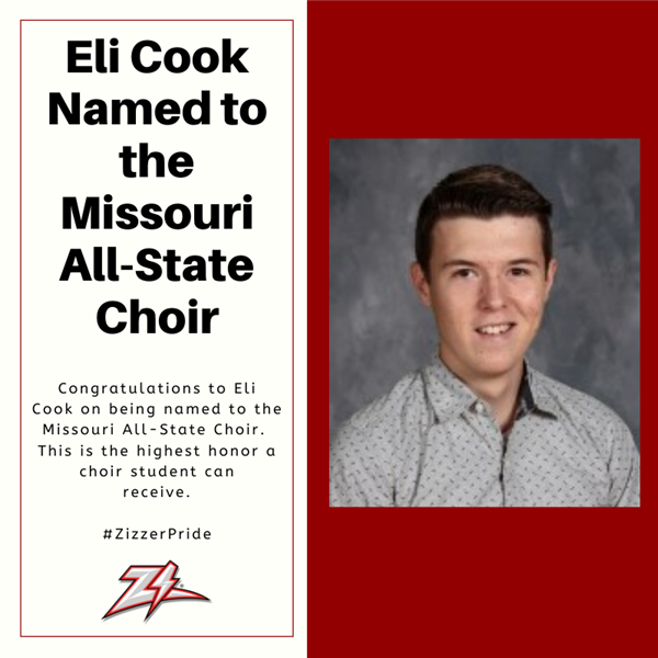 Eli Cook Selected to the Missouri All State Choir