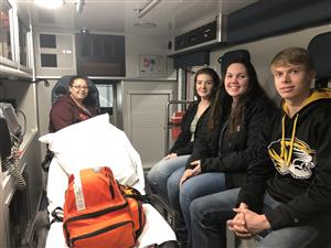 GO CAPS Students Visit South Howell County Ambulance