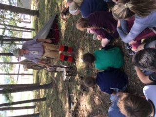 West Plains Middle School 5th Grade Students Learn About Pioneer Life & Fur Trade