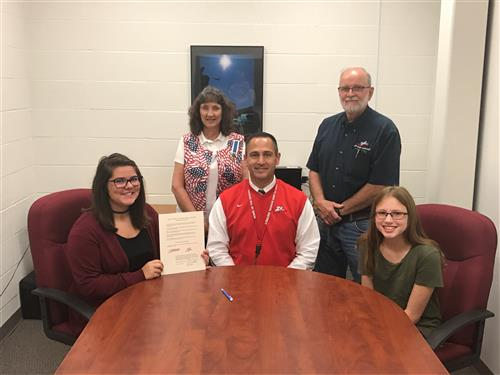 West Plains Middle School Signs Resolution for Constitution Week