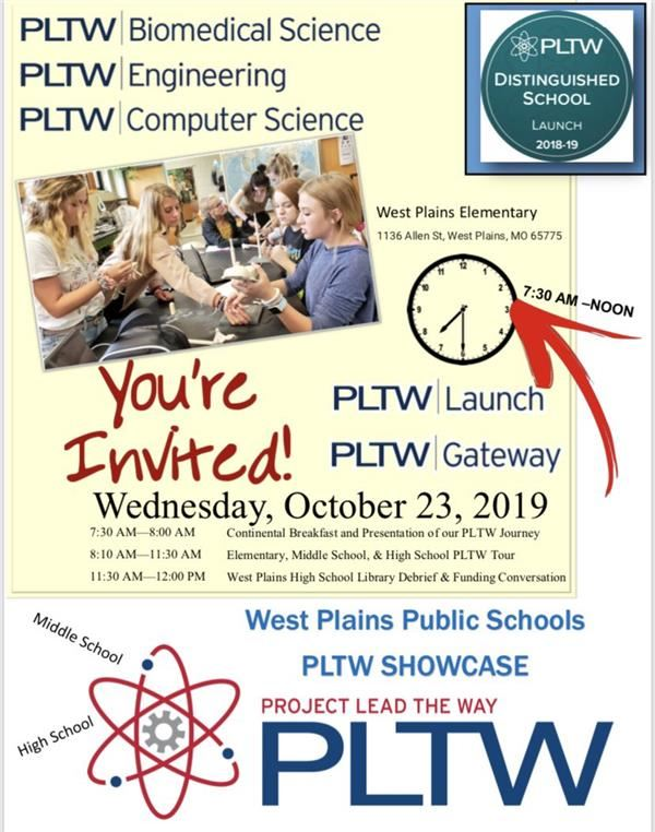 Project Lead the Way Showcase - October 23rd