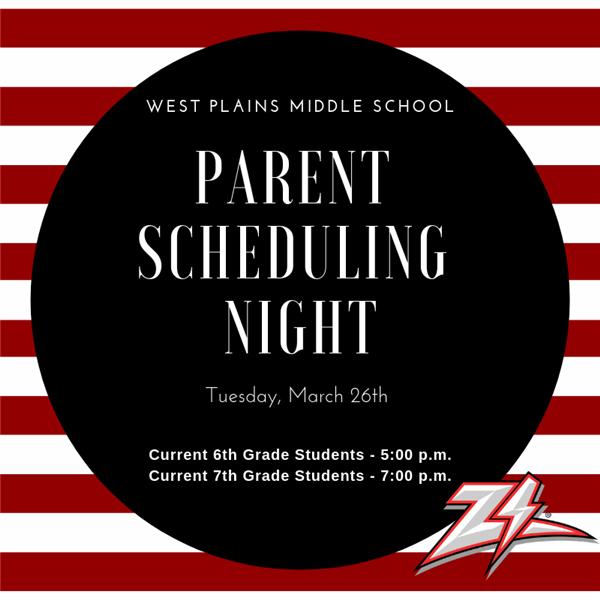 West Plains Middle School Scheduling Night
