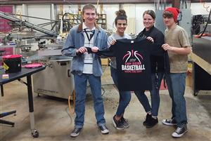 Commercial & Advertising Art Students Create Lady Zizzer PinkOut T-Shirts