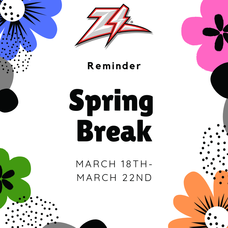 Spring Break March 26th - 30th