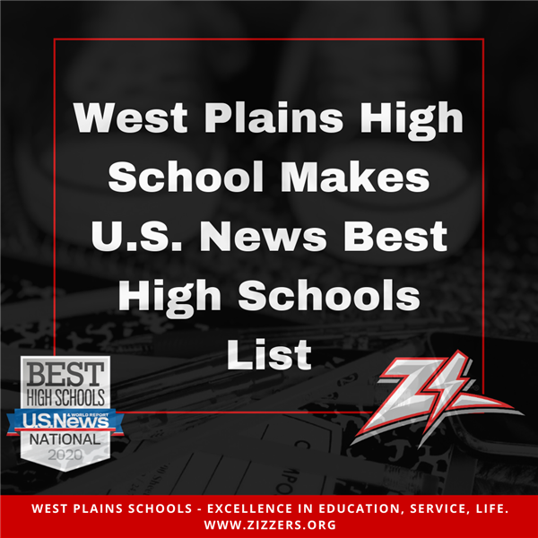West Plains High School Makes U.S. News Best High Schools List
