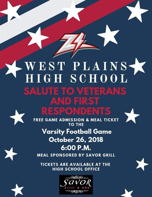 West Plains High School Salute to Veterans & First Responders