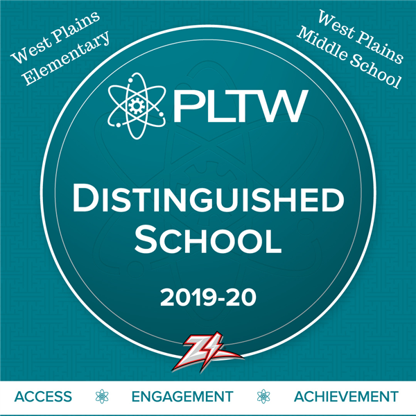 West Plains Elementary & West Plains Middle School Recognized as Nationally Distinguished Project Lead the Way (PLTW) Schools