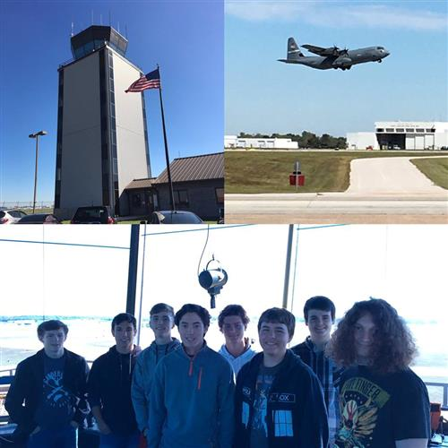Project Lead the Way (PLTW) Aerospace Engineering Students Tour Airport Control Tower