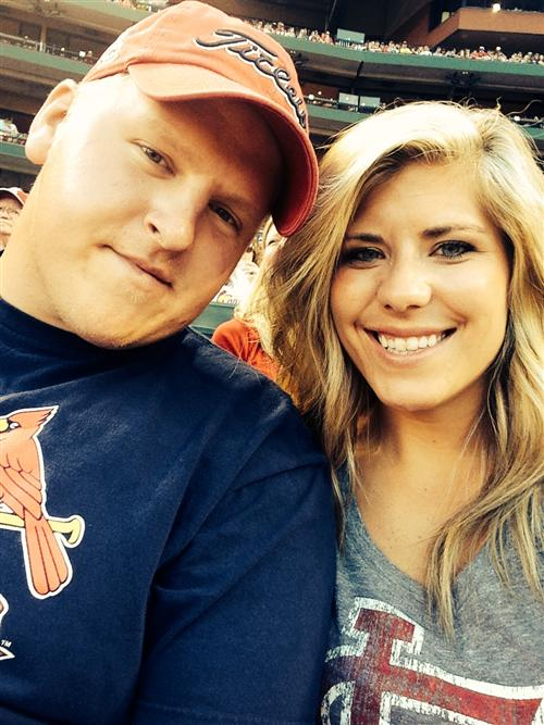 My Husband and I at a Cardinal Game